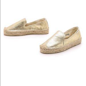 NWOT Soludos gold metallic espadrille sandal sz 7